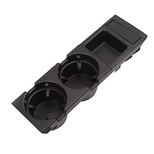 Bediffer Münzablage Münzablagehalter Autogetränkeständer Zuverlässiger Getränkehalter + Münzkassette Sicherheit für Auto für Auto(Black)