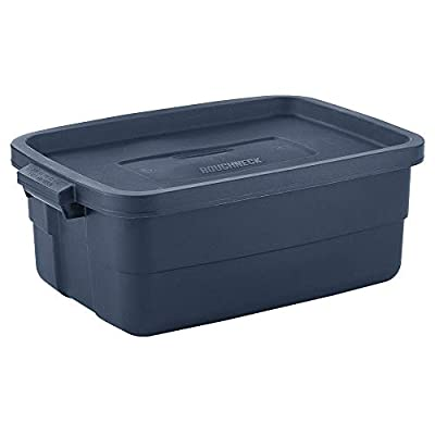 Rubbermaid Roughneck? Storage Totes 10 Gal Pack of 8 Rugged, Reusable, Set of Storage Containers