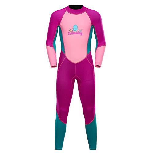 HONGSHENG1 Kindersonnencreme Langarm Schnorchelanzug Einteiliger Schwimmanzug Schnell Trocknend Neoprenanzug,2,S