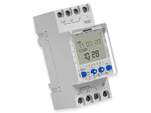 Digitale Zeitschaltuhr RELTECH RZSD2, 230 V, DIN-Schiene, 2 Kanal