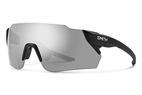 Smith Optics Attack Max Sunglasses, Matte Black / ChromaPop Platinum Mirror / ChromaPop Contrast Rose