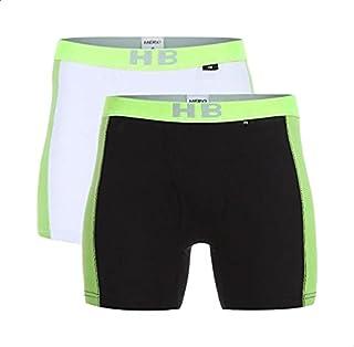 Hero Basic Contrast-Logo Elastic-Waist Boxers for Men - Set of 2