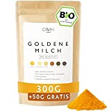 Bio Goldene Milch 300g + 50g gratis I Kurkuma Ashwagandha Ingwer Triphala Ceylon Zimt Pfeffer Pulver Golden Milk Ayurveda Fertigmischung