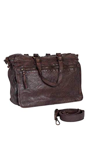 Michaelax-Fashion-Trade Freaky Nation - Damen Lederhandtasche, Leon (610761), Farbe:dark brown (8915), Größe:one size