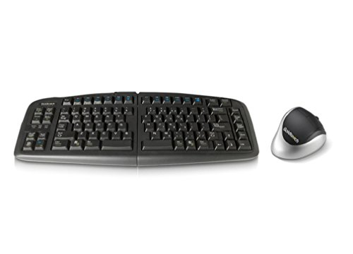 Goldtouch GTF-KRH-B V2 Wired Adjustable Keyboard and Wireless Comfort Mouse Bundle, Right-Handed