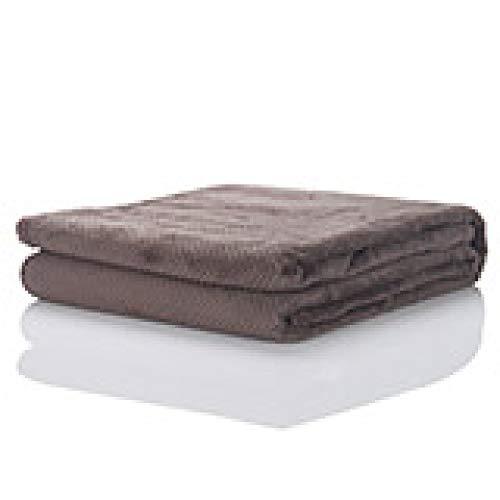 MULLA Baumwolldecke, Leichte Kuscheldecke Aus 100prozent Baumwolle | Luftige Sofa-Decke Vielseitig Einsetzbar | Leicht zu pflegene Wohndeckeflauschig-weiche,Brown-70x100cm