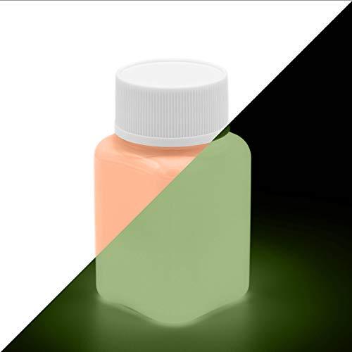 lumentics Premium Leuchtfarbe Orange 100ml - Im Dunkeln leuchtende, phosphoreszierende Farbe. Nachleuchtende UV Glühfarbe zum Malen, Basteln und Zeichnen.