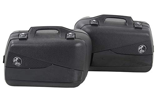 H&B Motorradkoffer Junior Flash Seitenkoffer schwarz, Paar mit je 30 Liter Stau, Unisex, Tourer, Sommer, Kunststoff