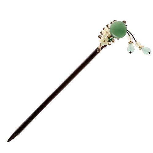 Chinesische Palast Dame Haarschmuck Vintage Jade Parkett Haarspange Pan Head Tool