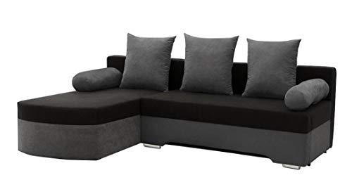 Mirjan24 Ecksofa Smart! Sofa Eckcouch Couch! mit Schlaffunktion und Bettkasten! Ottomane Universal, L-Form Couch Schlafsofa Bettsofa Farbauswahl (Alova 10 + Alova 04)