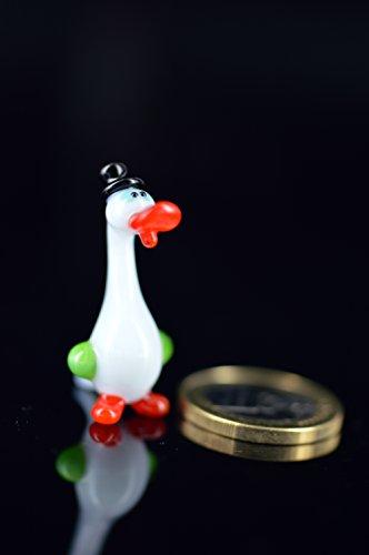 Mini 2/d/élan Marron/ /Figurine en verre petit /élan brun debout/ /Figurine Animaux Verre /Étag/ère Vitrine en verre D/écoration