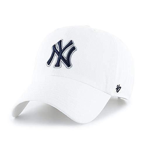 MLB New York Yankees Men's '47 Brand Clean Up Cap, White, One-Size