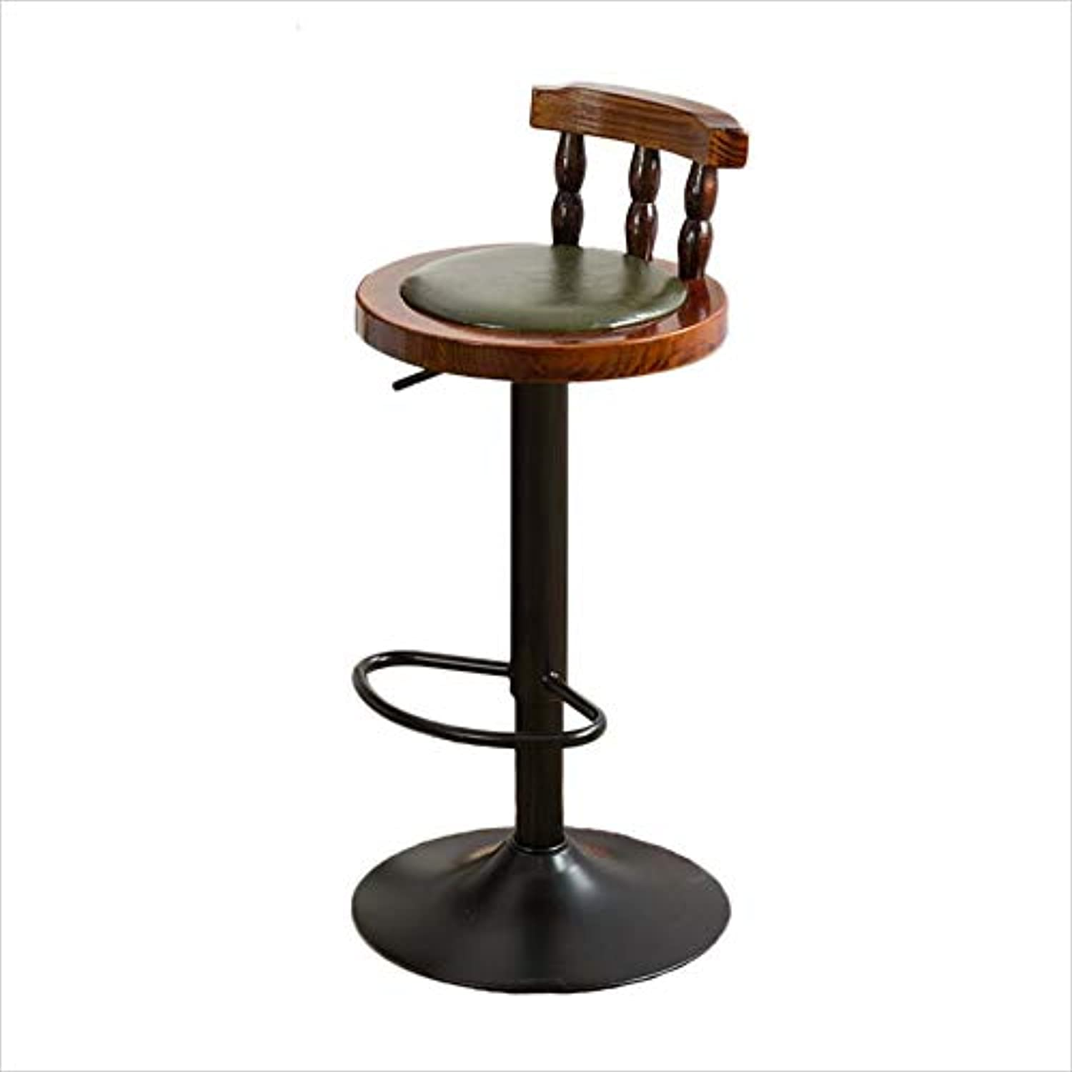Lh yu Fashion Personality Solid Wood Bar Chair Bar Chair High Stool Round Stool Household More Comfortable