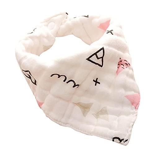 DNAEGH Baberos,Baberos para bebés recién Nacidos, Babero de Gasa de algodón, Toalla Trigonum de Saliva para bebés, Cosas para bebés H