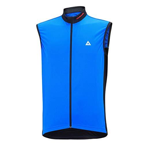 Airtracks Maillot de cyclisme fonctionnel sans manches Comfort Line - Bleu/noir - XL