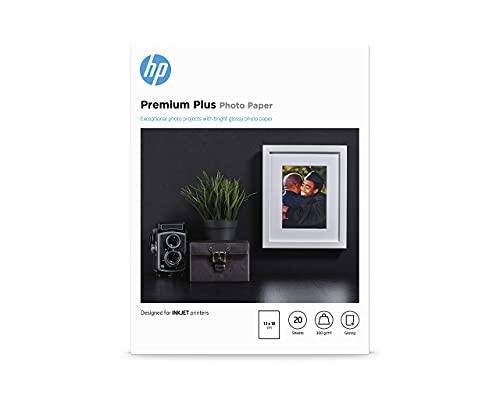 Papier photo HP Premium Plus, brillant, 300g/m2, 13x18cm, 20feuilles
