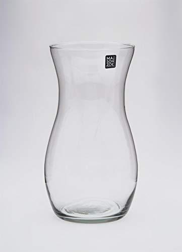 Maison Zoe Mundgeblasene und Handgefertigte Glasvase Claudia - 30cm hoch - Blumenvase - Deko & Hochzeit