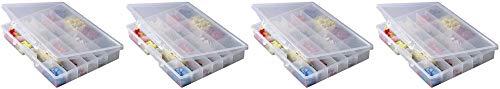 Plano Molding 5324 Portable Organizer 24-Fixed Compartments, Premium Small Parts Organization 4 Pack