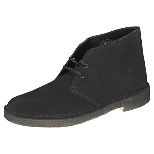 Clarks Desert Boots - Polacchine Uomo, Pelle, Nero (Black Suede-), 46 EU