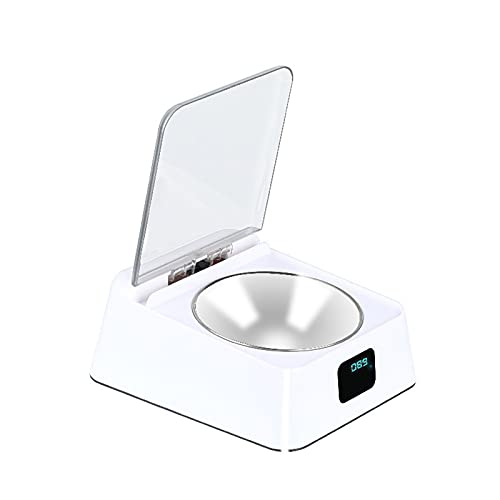 PGZLL Intelligenter Futterautomat Einfacher Infrarotsensor für Haustiere Trocken- und Nassfutterautomat 350ml Geeignet für Katzen und kleine und mittelgroße Hunde;