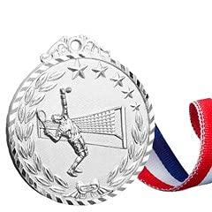 Watermzk Medallas de astilla profesionales personalizadas, para ganador de tenis, grabado logotipo personalizado, 2º premios, 2.75 pulgadas de ancho medallones, con cinta de cuello, (Tenis)..