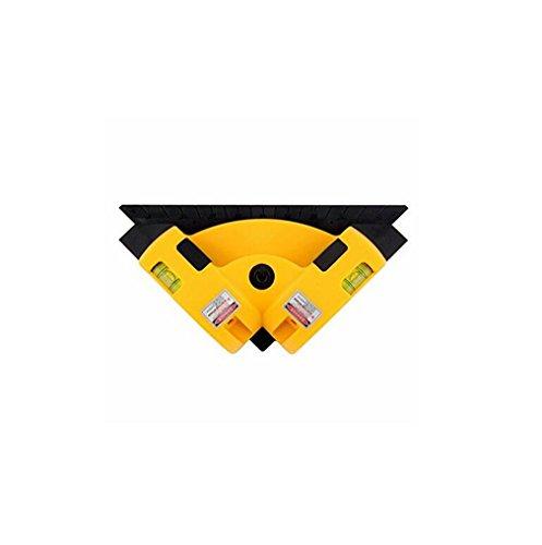 ELEGENCE-Z waterpas infrarood-hoek hoekmeter 90 graden verticale laserprojectie horizontale meetinstrument infrarood vierkant (geel)