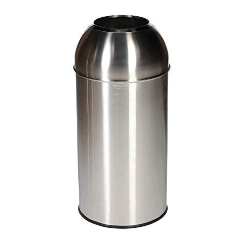 Cubo de basura estilo bala de acero inoxidable con tapa de acero inoxidable