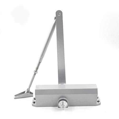 Marie Türschließer Größe 6 Automatische Federung Hydraulisch verstellbarer Arm, 100-150 kg Gewerbe und Heimgebrauch für mittelschwere Tür Aluminiumlegierung Silber
