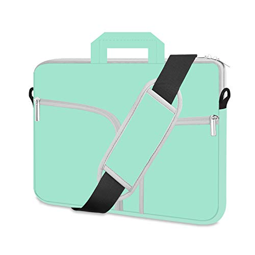 HESTECH Chromebook Case, 11.6-12.3 inch Neoprene Laptop Sleeve Case Bag Handle Compatible with Acer Chromebook r11/HP Stream/Samsung Chromebook/MacBook air 11/ Surface Pro3/Pro4,Mint Green