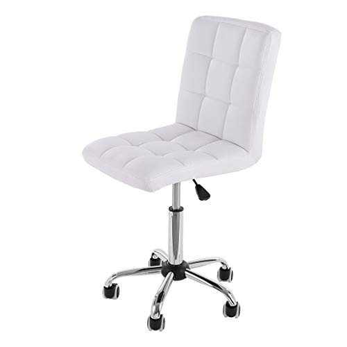 Home Office Chair,Gaming Chair Racing Computer Desk Executive Office Chair, 360°Swivel Flip-up Arms Ergonomic Design for Women Men Adults (White)