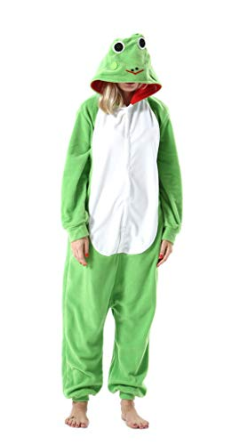Pijama Onesie Adultos Mujer Cosplay Animal Disfraces Halloween Carnaval Cosume Rana XL