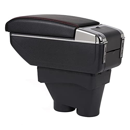 Caja Apoyabrazos Coche para Peugeot 208 Accesorios De La Caja Almacenamiento del Reposabrazos Consola Central del Coche con Portavasos Apoyabrazos Central Automóvil