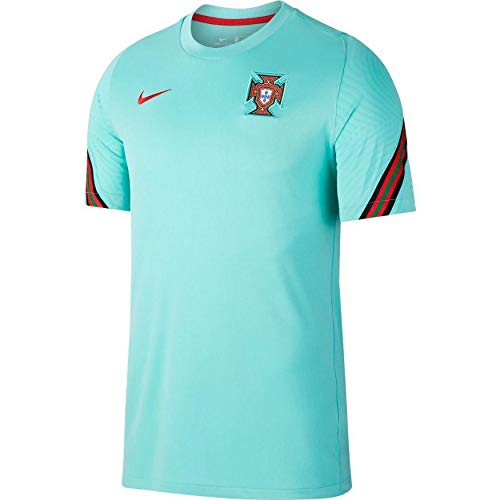 NIKE Fpf M Nk BRT Strk Top SS Camiseta, Mint/Sport Red/Sport Red, Extra-Small para Hombre