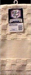 Charles Craft Bulk Buy Home Dec Check Towel 15 inch x 25 inch Ecru TT6624-2724 (2-Pack)