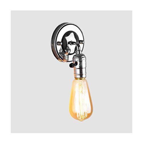 Lampe murale applique Applique murale style industriel en fer forgé chromé E27 (Couleur : A)
