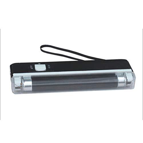 Ba30DEllylelly Detector de Dinero de Mano Lámpara UV Prueba de Dinero de falsificación Detector de Billetes de Banco con Pilas Linterna LED