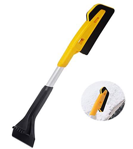 YJZQ rascador de hielo extensible, esponja antiarañazos, cepillo para parabrisas y nieve para coche, furgoneta, camión, ventana, parabrisas, heladas, quitanieves, limpiaparabrisas