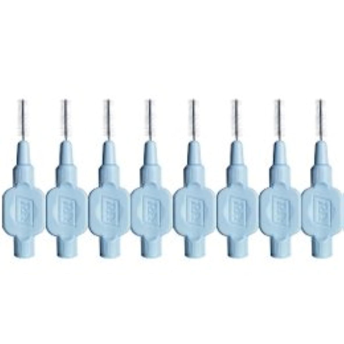 セクション情熱モノグラフクロスフィールド テペ エクストラソフト 歯間ブラシ 8本入 ブルー 0.6mm