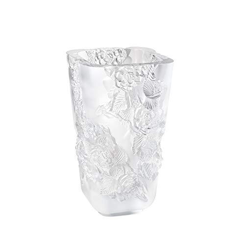 Lalique Vase Pivoine GM Clear Crystal