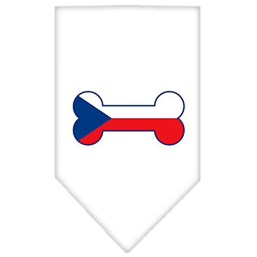 Mirage Bone Vlag Tsjechië Scherm Print Hond Bandana