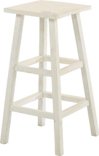 不二貿易 木製 フラワースタンド ハイ スクエア アンティーク風 ホワイト 91757