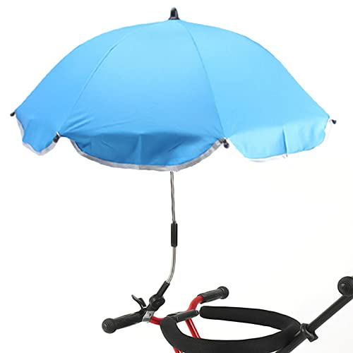 NAKAZAWA BABY STROLLER PARASOL CLAMP-ON SHADE UMBRELLA  UMBRELLA CLIP FIXING DEVICE FOR BABY BEACH CHAIRS BLEACHERS STROLLERS (BLUE SMALL)