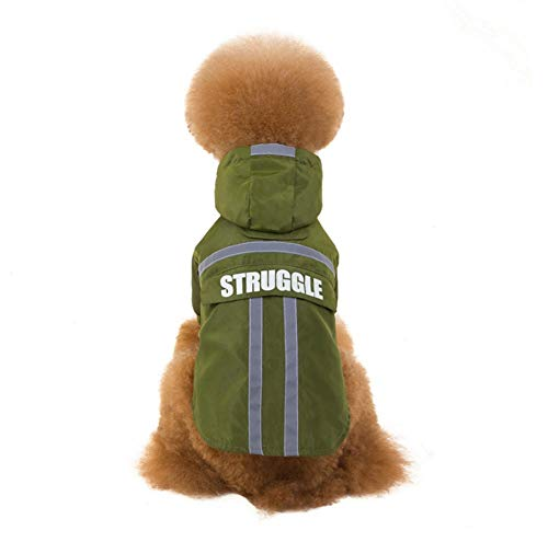 MUXIAND Reflecterende Hond Regenjas Regenjas Jumpsuit Waterdichte Huisdier Kleding Veiligheid Regenkleding Voor Huisdier Kleine Medium Honden Puppy Doggy, XXL