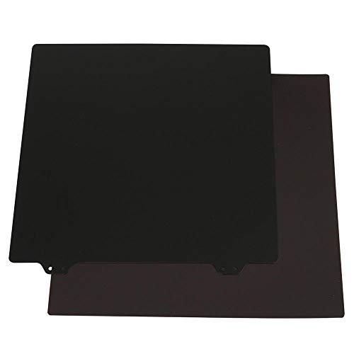 RLJJCS 235x235mm Magnetic Sticker B Aerofoil with Black Twofold Texture PEI Powder Steel Plate for 3D Printer