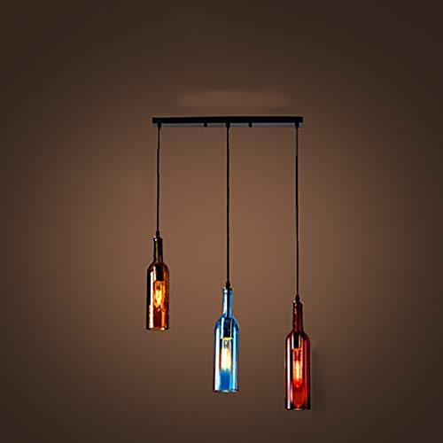 WWLONG Die Kronleuchter-Leuchter des Weinflaschen-Deckenlampenkronleuchters beleuchtet für Hauptbürohotel-Barrestaurant-2-Washblue