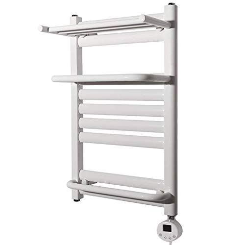 Calentador de toallas con calefacción, escalera plana para baño con estilo, calentador de toallas, toalla montada en la pared, calentador eléctrico de toallas de baño caliente con toallero de baño