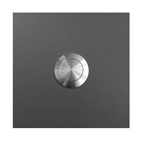 MOCAVI RING 110 Edelstahl-Design-Klingel anthrazit-eisenglimmer DB 703 quadratisch, Klingeltaster