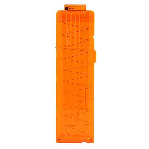 Demeras Soft Bullet Clip Soft Bullet Gun Clip Quick Reload Clip 18 Darts Soft Bullet Reload Zeitschriften Clip für Nerf N-Strike(Transparentes Orange)