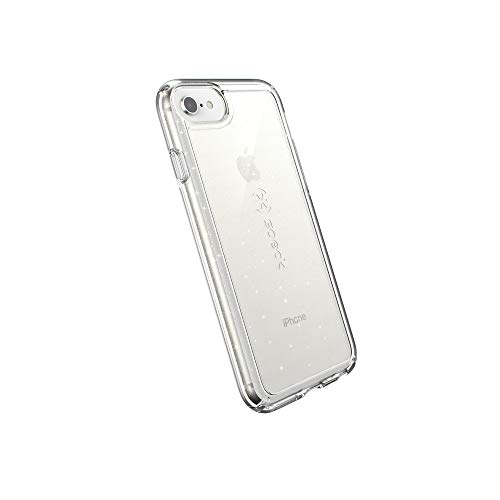Speck Products GemShell - Carcasa para iPhone SE 2020, Transparente con Purpurina Dorada, Transparente