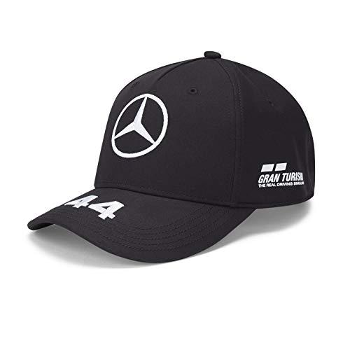 Mercedes-AMG Petronas - Cappellino ufficiale Formula 1 per bambini Motorsport 2020, taglia Lewis Hamilton, colore: Nero